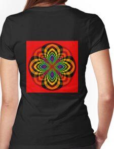 Rainbow Star Flower Womens Fitted T-Shirt