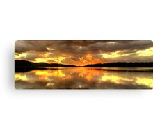 Chasing The Light (20 Exposure HDR Panoramic) - Narrabeen Lakes - The HDR Experience Canvas Print