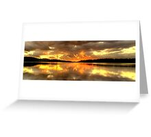 Chasing The Light (20 Exposure HDR Panoramic) - Narrabeen Lakes - The HDR Experience Greeting Card