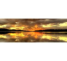 Chasing The Light (20 Exposure HDR Panoramic) - Narrabeen Lakes - The HDR Experience Photographic Print
