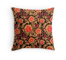 The Khokhloma Kulture Pattern Throw Pillow