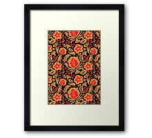 The Khokhloma Kulture Pattern Framed Print