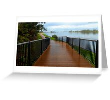 Manning River walk way 01 Greeting Card