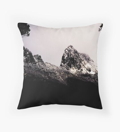 Cradle Snow Throw Pillow