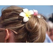 flowers in your hair Photographic Print