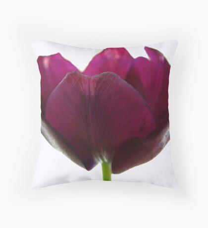 Purple Tulip One Throw Pillow