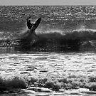 working the break off Camel Rock - Piha by dennis william gaylor