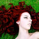 Jess in the grass by crawlspace