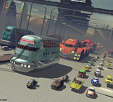 Mega City street by Kanaa