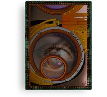 eye as a lens - steampunk variations Canvas Print