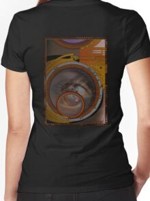 eye as a lens - steampunk variations Women's Fitted V-Neck T-Shirt