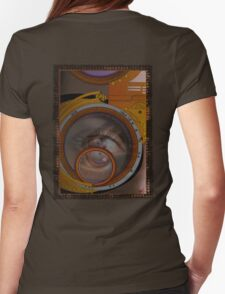 eye as a lens - steampunk variations Womens Fitted T-Shirt
