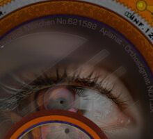 eye as a lens - steampunk variations Sticker