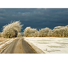 Winter landscape. Snowstorm coming up Photographic Print