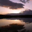 Groby Pools At Dusk by Mike Topley