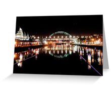 Newcastle Quay Side Greeting Card