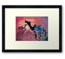 Love of camels  Framed Print