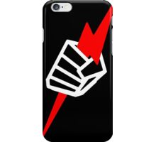 "Pride ""Fist"" - White on Black iPhone Case/Skin"