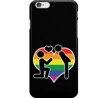 He Said Yes Mr And Mr Proposal Gay Wedding iPhone Case/Skin