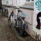 Bikes in a Berlin's street by dyanera