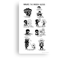 Ninjas: The Unseen Helpers Canvas Print