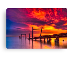 Dusk at Elwood Jetty #1 Canvas Print