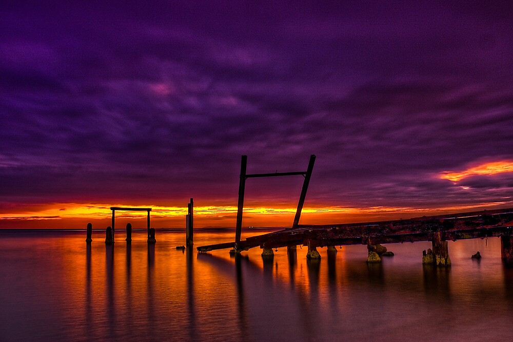 Dusk at Elwood Jetty #2 by Jason Green