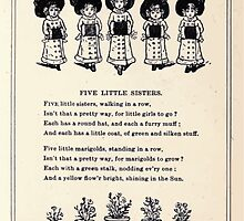 Miniature Under the Window Pictures & Rhymes for Children Kate Greenaway 1880 0051 Five Little Sisters by wetdryvac