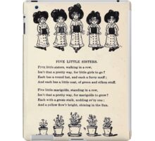 Miniature Under the Window Pictures & Rhymes for Children Kate Greenaway 1880 0051 Five Little Sisters iPad Case/Skin