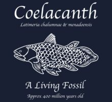 Coelacanth Living Fossil One Piece - Short Sleeve