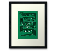 There is a party in my snake  Framed Print