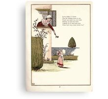 Under the Window Pictures and Rhymes for Children Edmund Evans and Kate Greenaway 1878 0061 Little Baby Fair Blossom Canvas Print