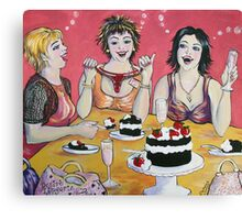 Champagne ,Cake and Shopping! Canvas Print