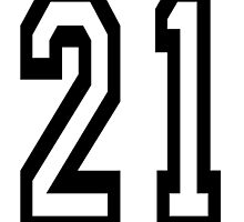TEAM SPORTS, NUMBER 21, TWENTY ONE, 21, TWENTY FIRST, TWO, ONE, Competition,  by TOM HILL - Designer