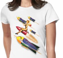 rock rock rock it to the moon! Womens Fitted T-Shirt