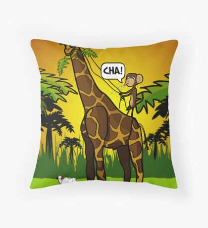 Cha Giraffe  Throw Pillow