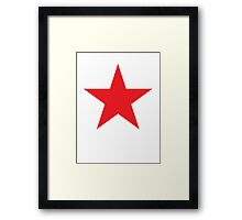 Red Star, Stardom, Power to the people! Red Dwarf, Stellar, Cosmic Framed Print