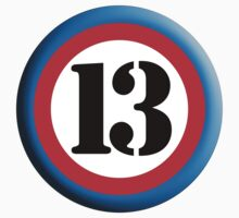 ROUNDEL 13, TEAM SPORTS, NUMBER 13, THIRTEEN, 13, THIRTEENTH, Competition,  Kids Clothes