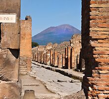 Mount Vesuvius from Pompeii by Shaun Whiteman