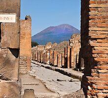 Mount Vesuvius from Pompeii by Shaun Whiteman