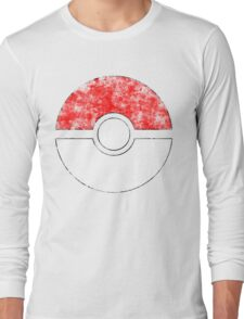 Distressed Pokeball Long Sleeve T-Shirt