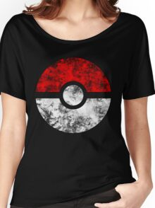 Distressed Pokeball Women's Relaxed Fit T-Shirt