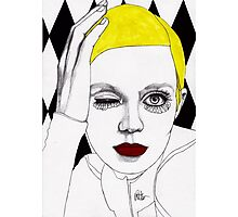 Girl with Yellow Hair Photographic Print