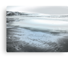 Silver Seascape II Canvas Print