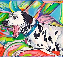 Laughing Dalmatian  Psychedelic Dalmatian Art by Nancy Daleo