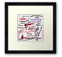 The scary internet bug Framed Print