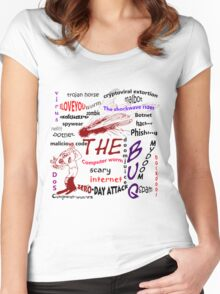 The scary internet bug Women's Fitted Scoop T-Shirt