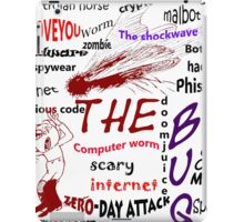 The scary internet bug iPad Case/Skin