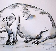 PIG (in pen and oink!) by Elizabeth Kendall