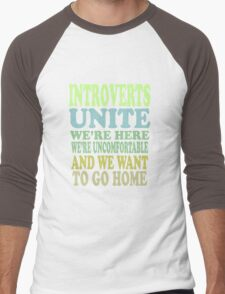 Introverts Unite Men's Baseball ¾ T-Shirt